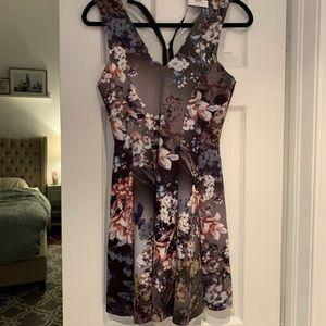 Floral top shop dress NWT